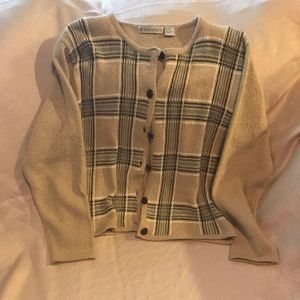 Dress Barn Button Down Cardigan Beige XL